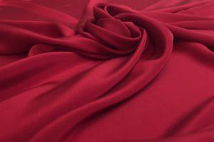 961-Red-Silk-Crepe-De-Chine