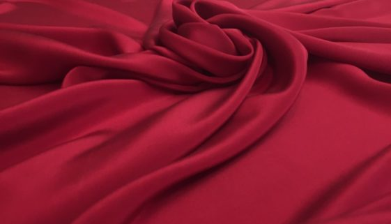 961-Red-Silk-Crepe-De-Chine
